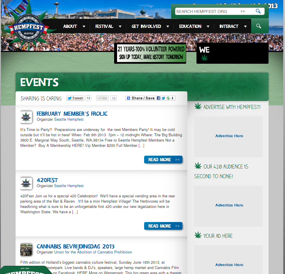 Your Event on our Event's Page