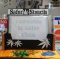 """""""Safer than…"""" Stencils"""